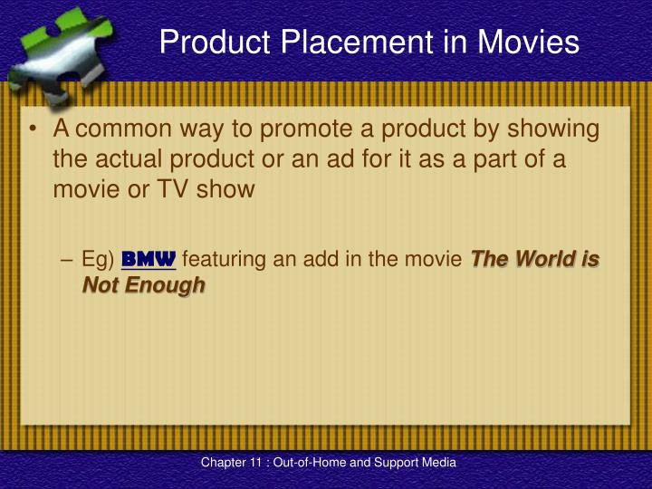 Product Placement in Movies