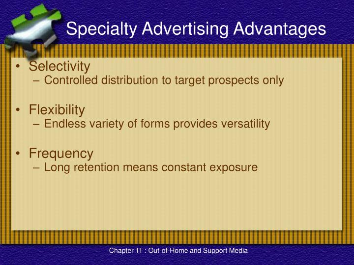Specialty Advertising Advantages