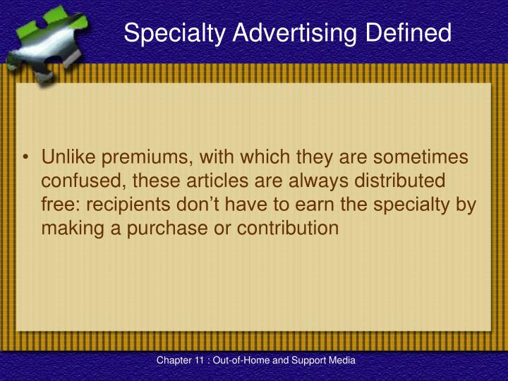 Specialty Advertising Defined