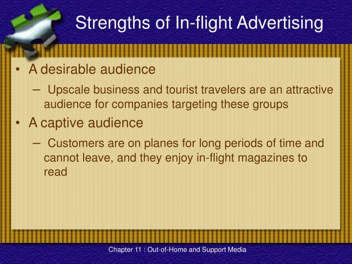 Strengths of In-flight Advertising