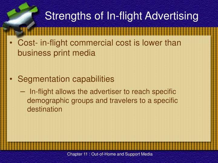 Strengths of In-flight Advertising