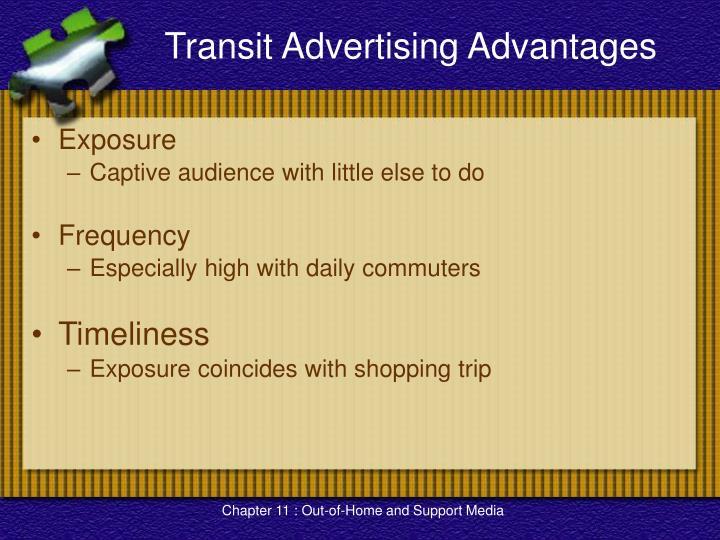 Transit Advertising Advantages