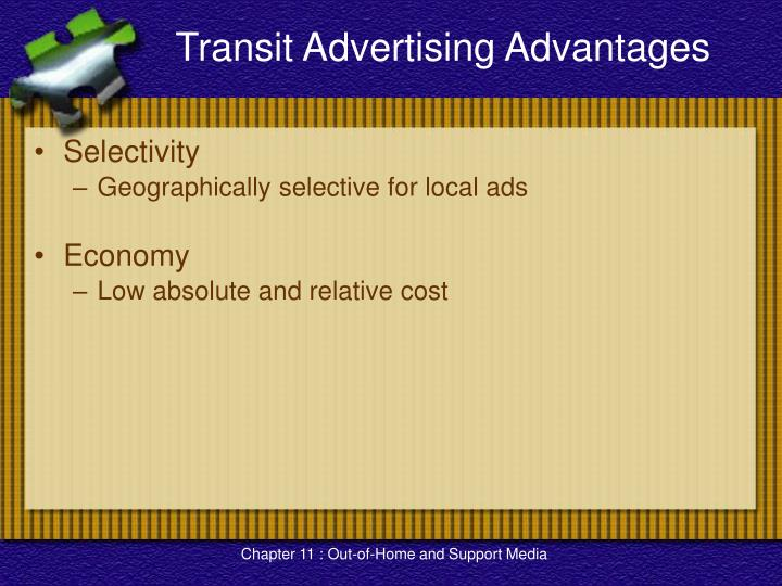 Transit Advertising Advantages