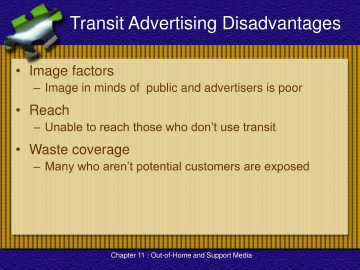 Transit Advertising Disadvantages