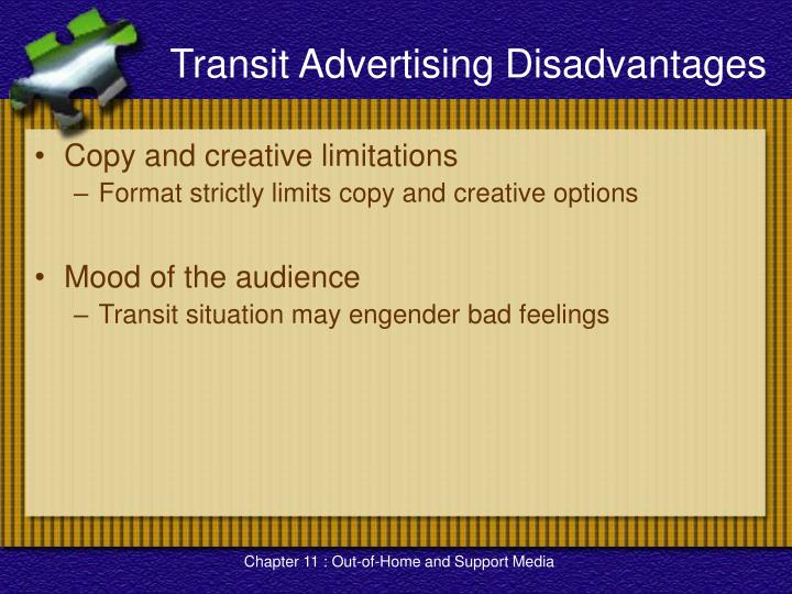 Transit Advertising Disadvantages