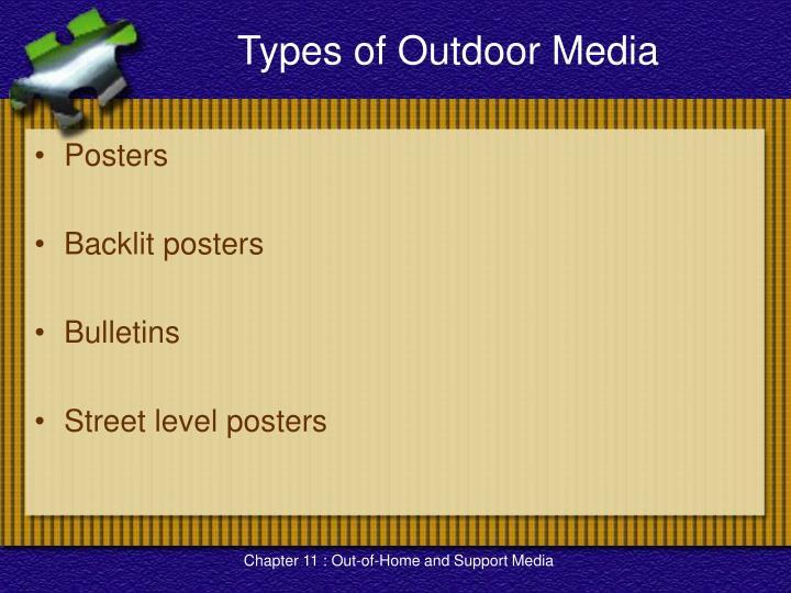 Types of Outdoor Media