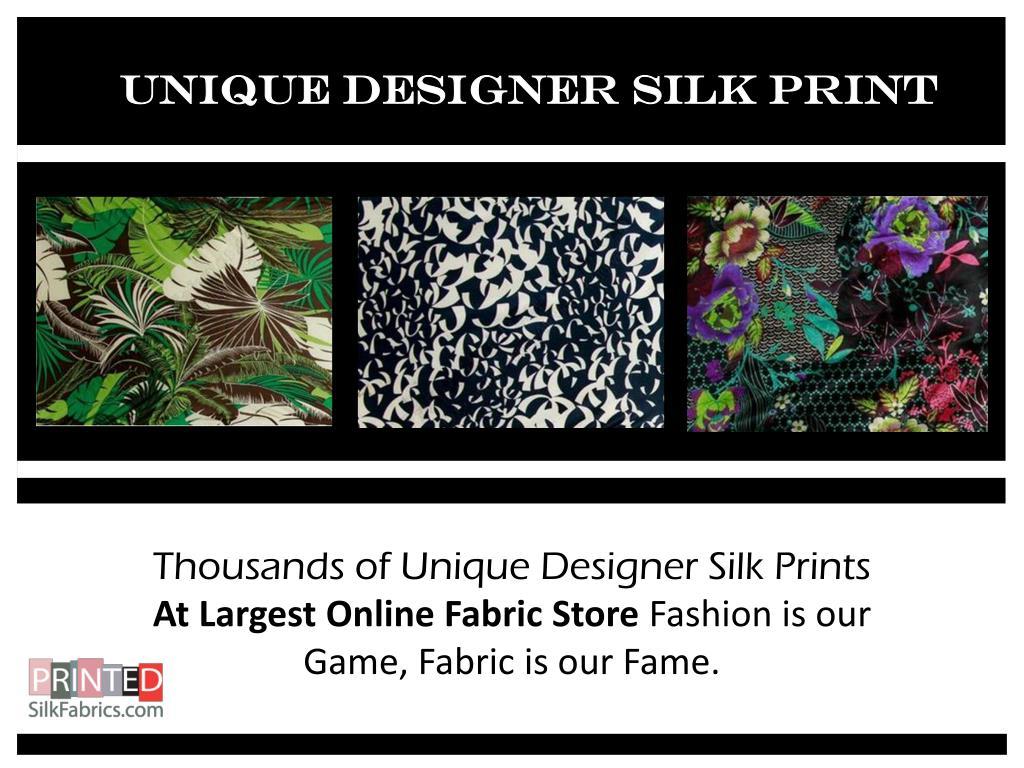 Unique Designer Silk Print
