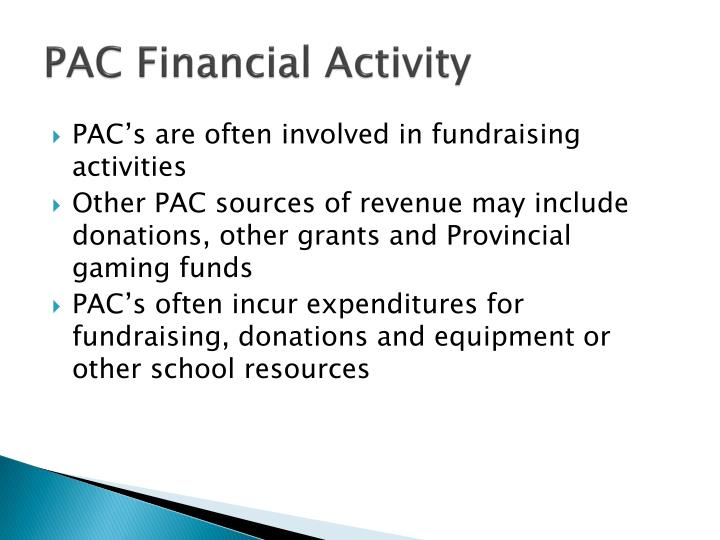 PAC Financial Activity