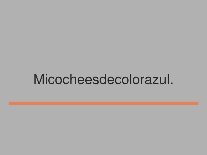Micocheesdecolorazul.