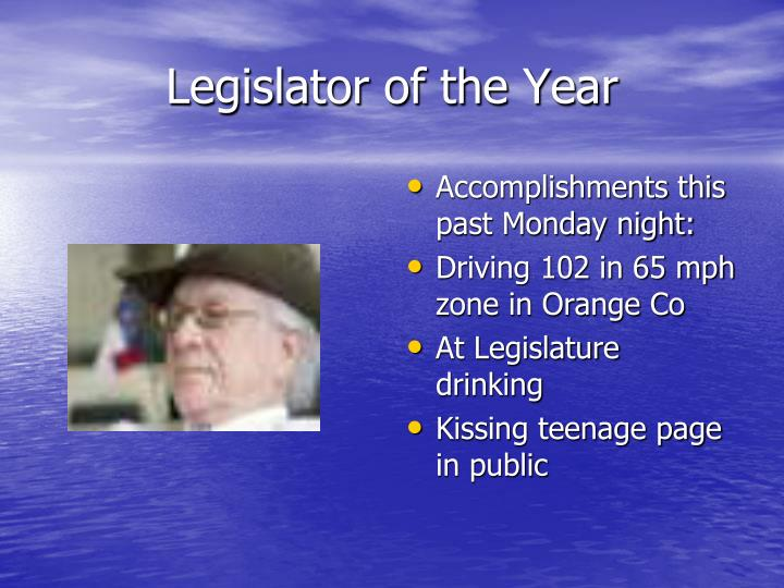 Legislator of the Year