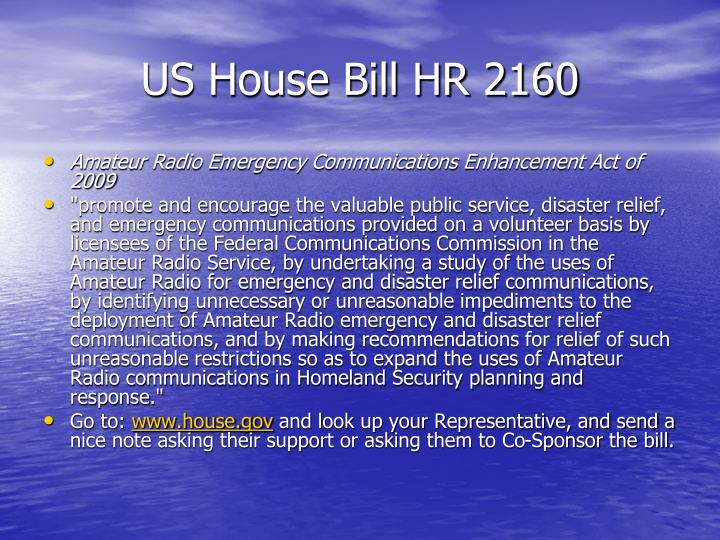 US House Bill HR 2160
