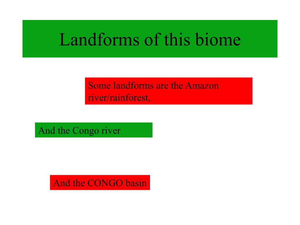 Landforms of this biome