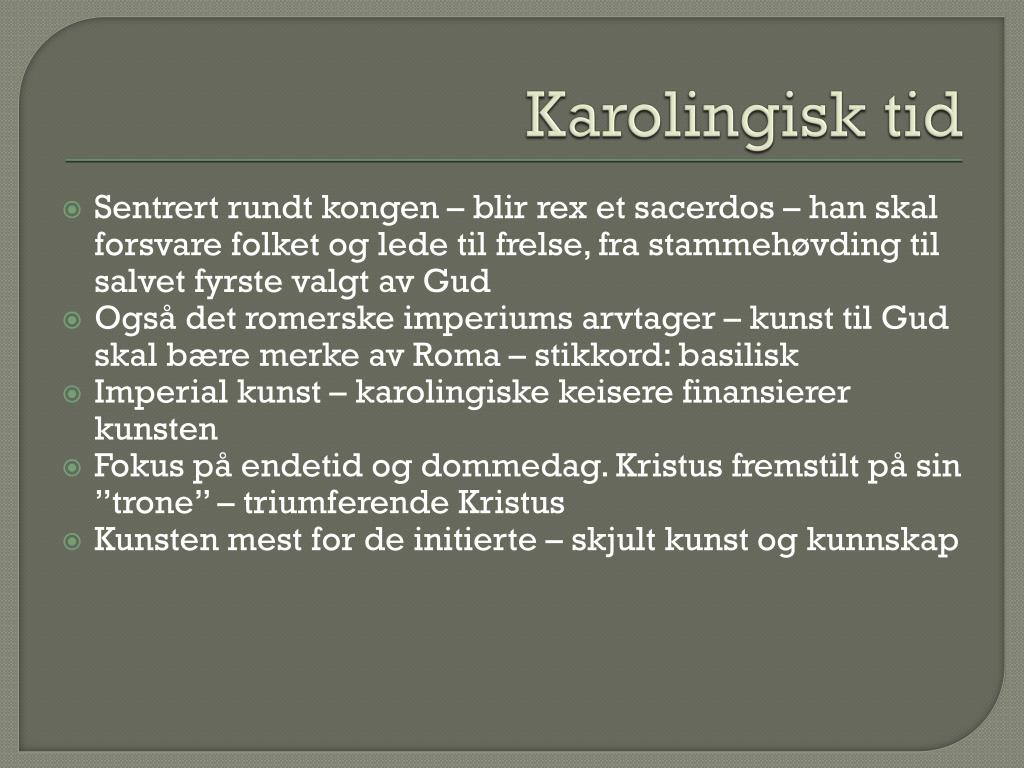 Karolingisk tid