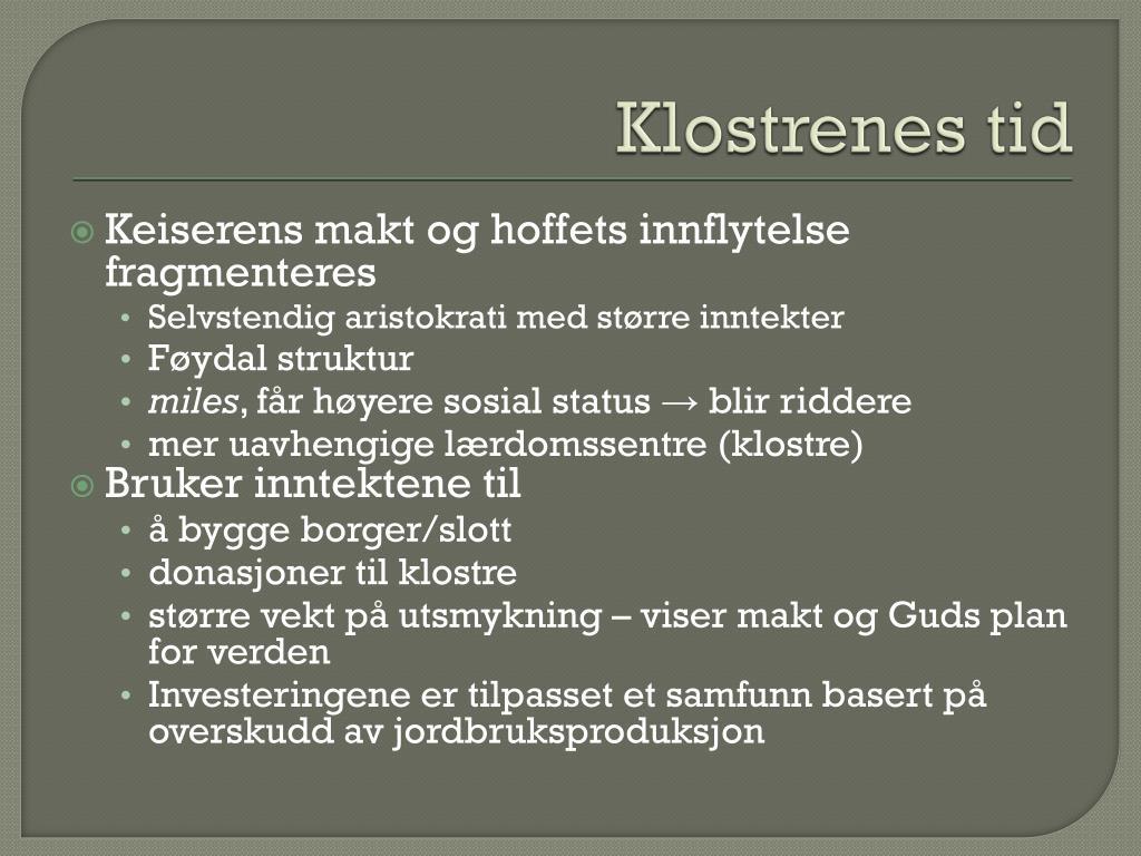 Klostrenes