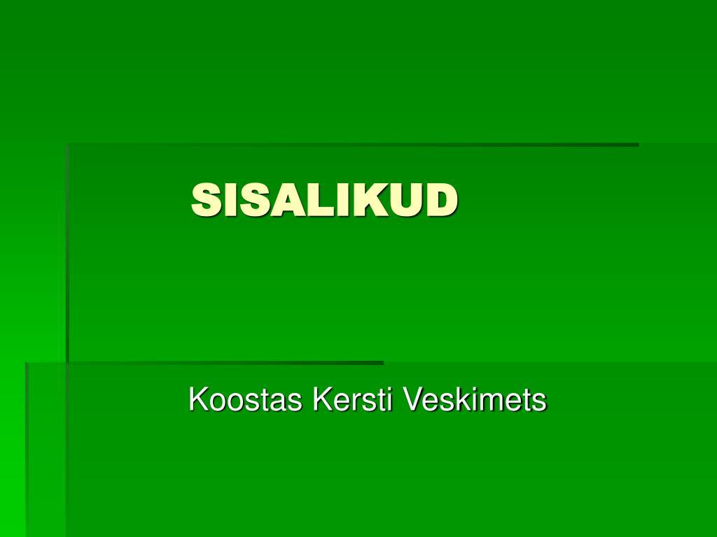 SISALIKUD