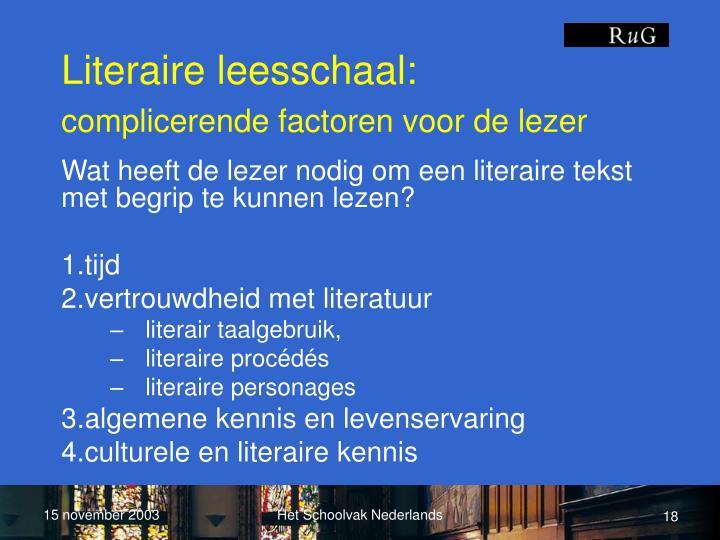 Literaire leesschaal: