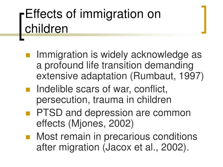 Effects of immigration on children