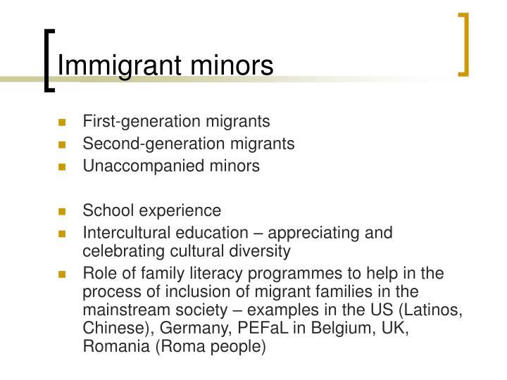 Immigrant minors
