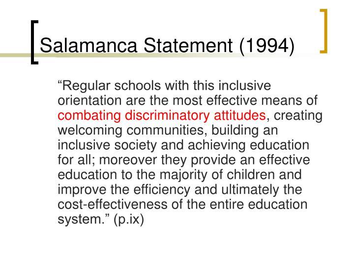 Salamanca Statement (1994)