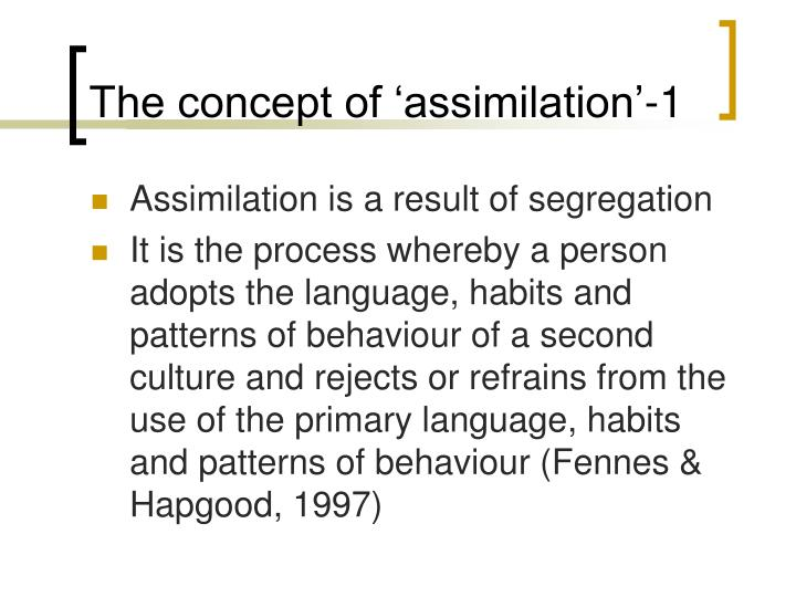 The concept of 'assimilation'-1