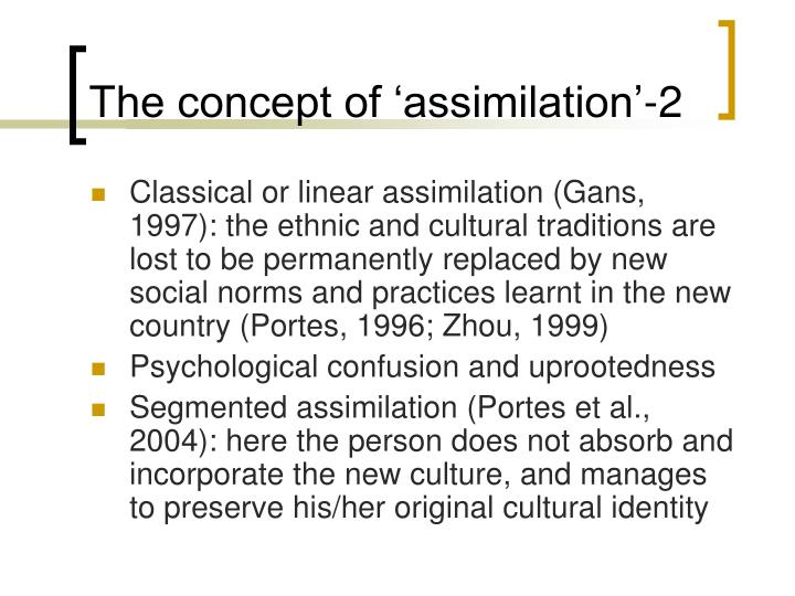 The concept of 'assimilation'-2