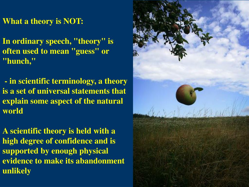 What a theory is NOT:
