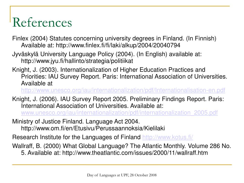 Day of Languages at UPF, 28 October 2008