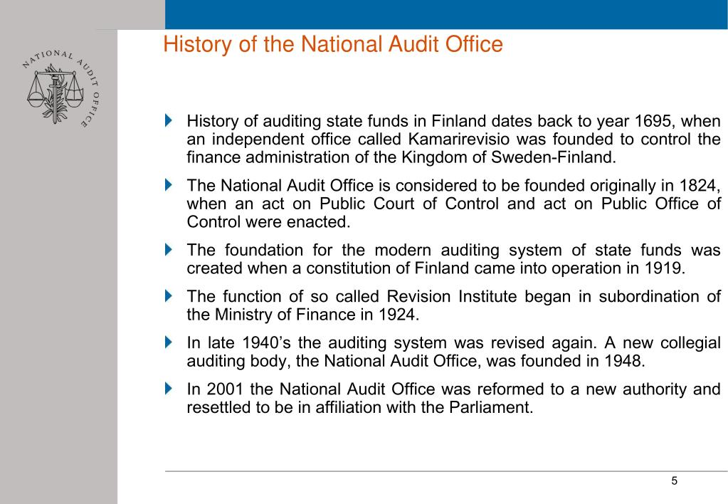 History of the National Audit Office