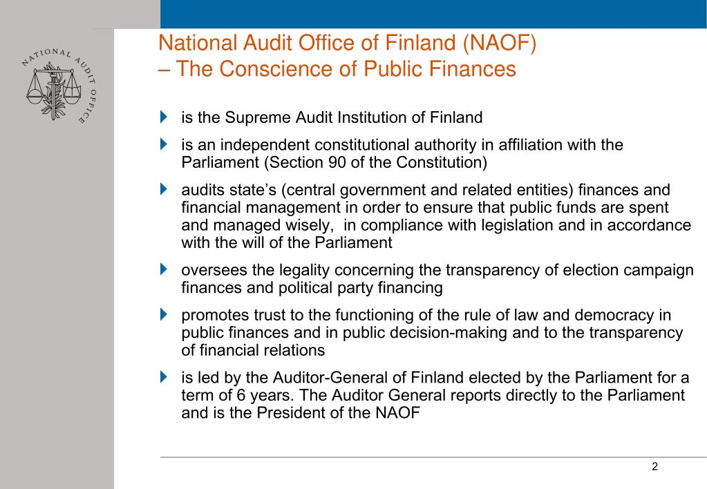 National Audit Office of Finland (NAOF)