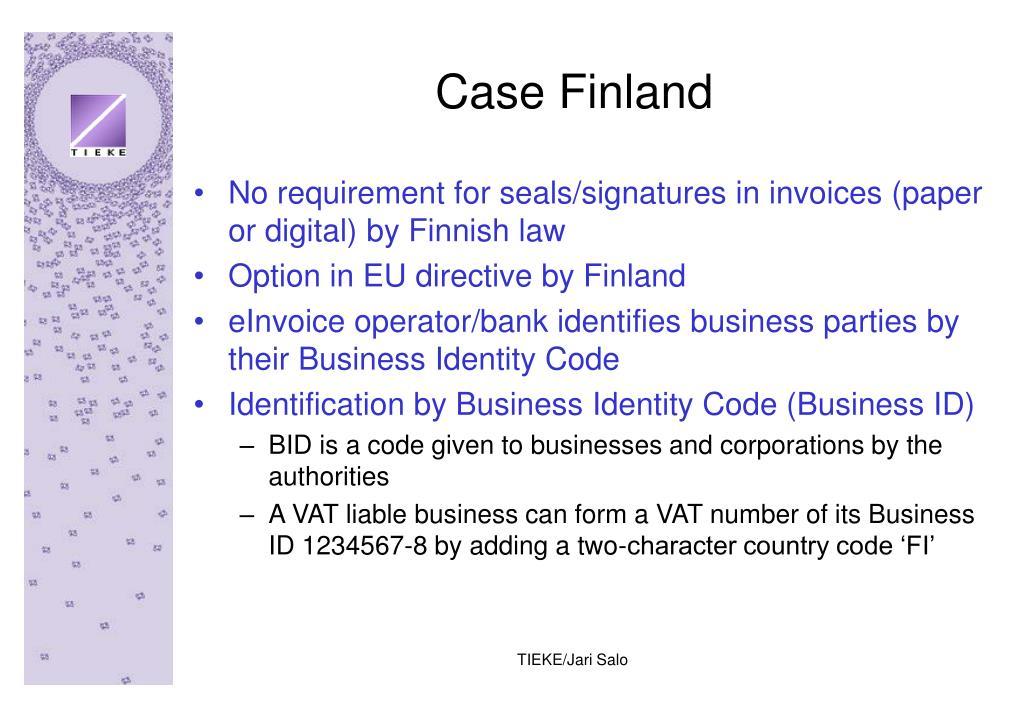 Case Finland