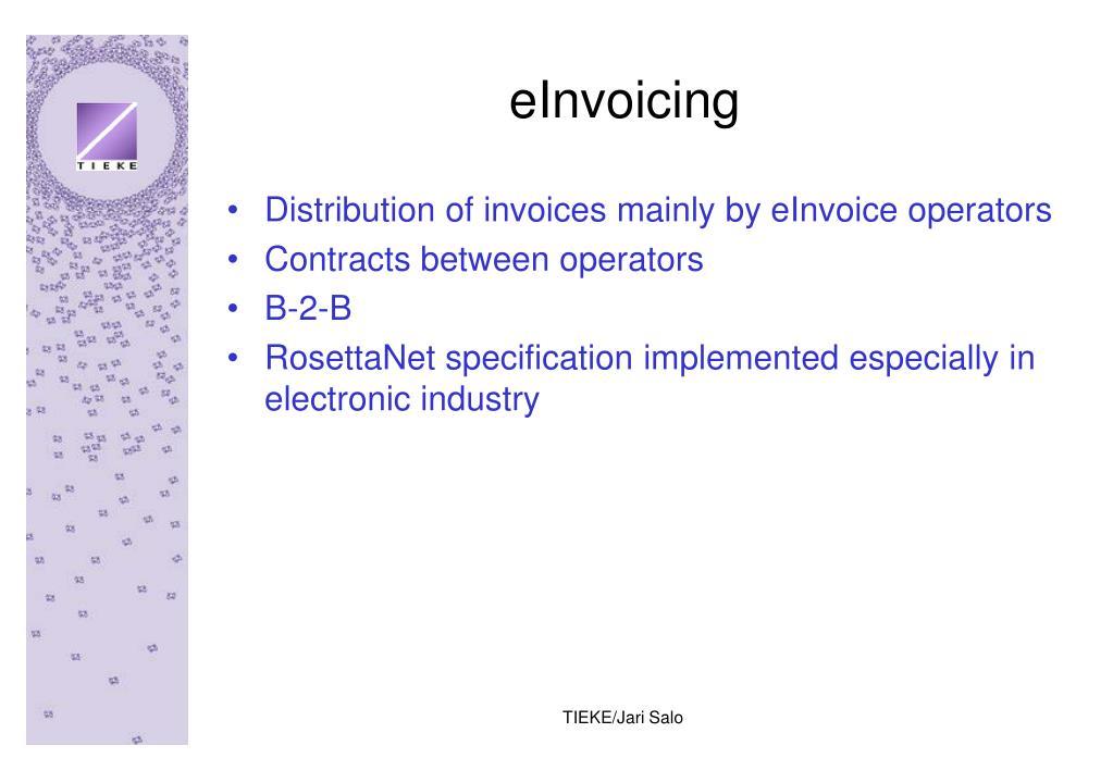 eInvoicing