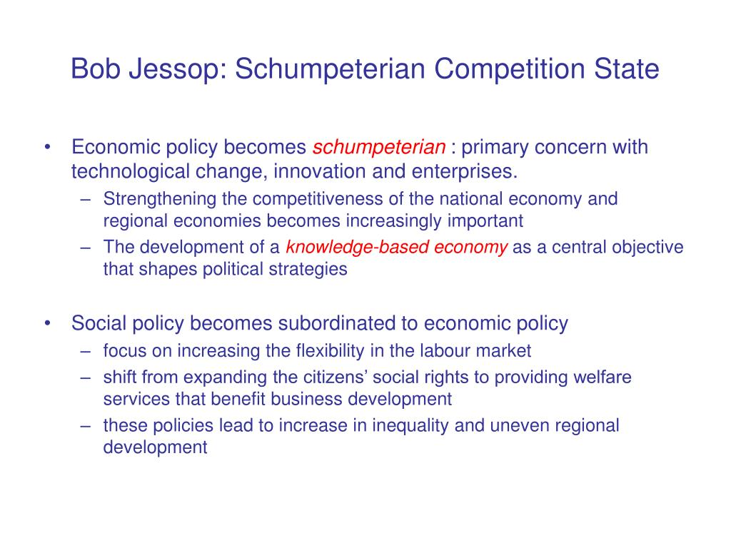 Bob Jessop: Schumpeterian Competition State