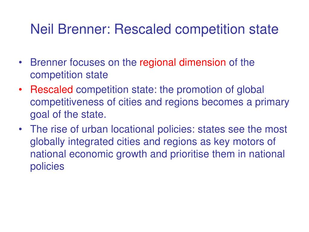 Neil Brenner: Rescaled competition state