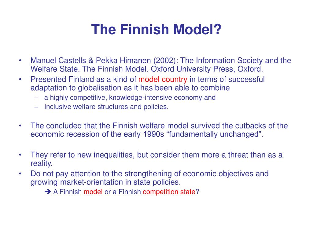 The Finnish Model?