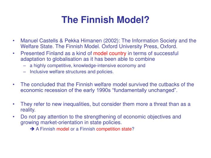 The finnish model
