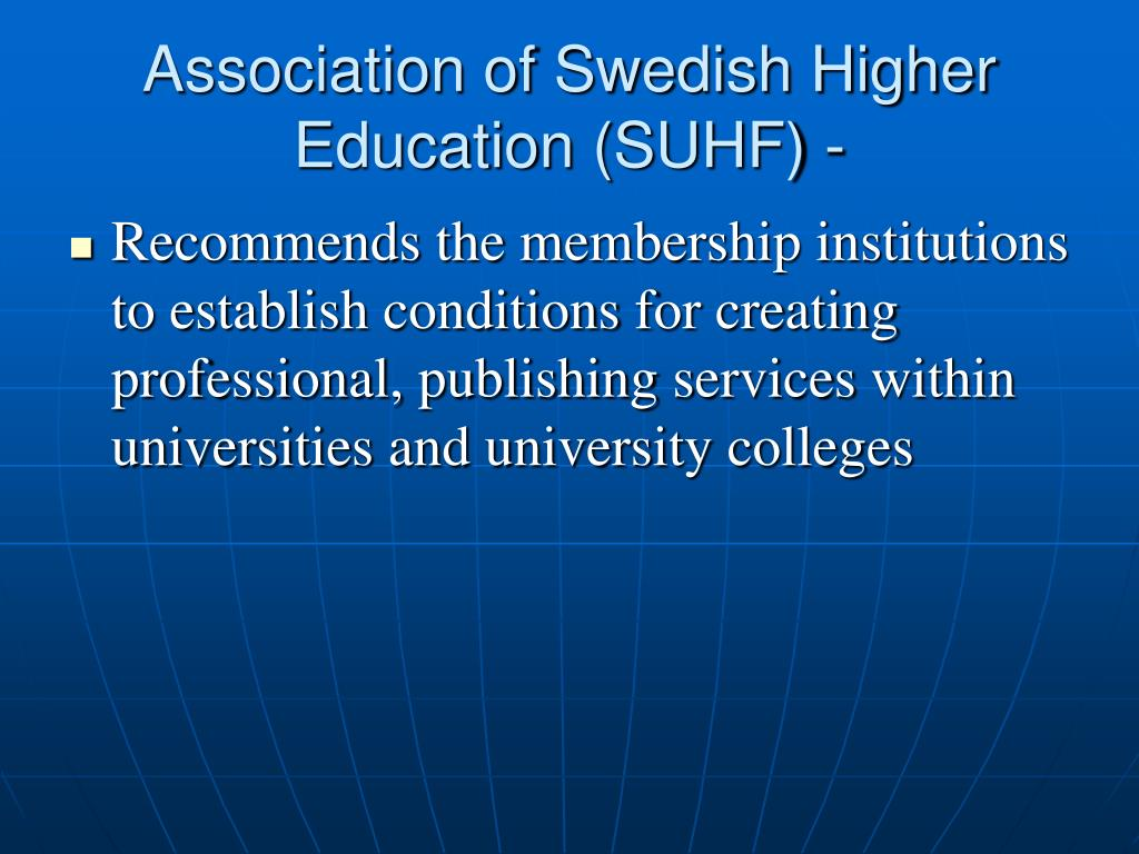 Association of Swedish Higher Education (SUHF) -
