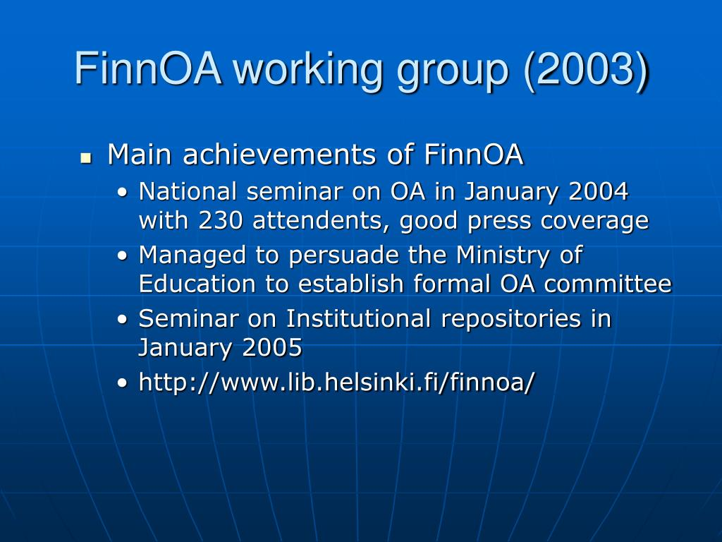 FinnOA working group (2003)