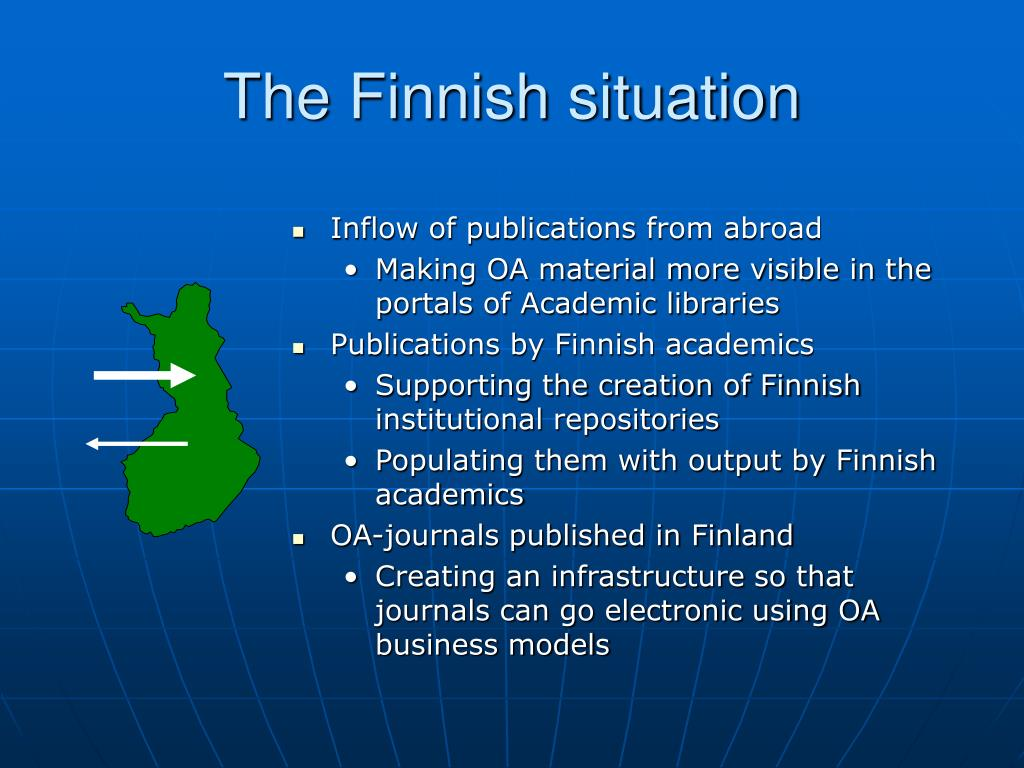 The Finnish situation