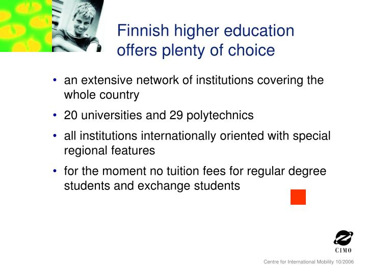 Finnish higher education offers plenty of choice