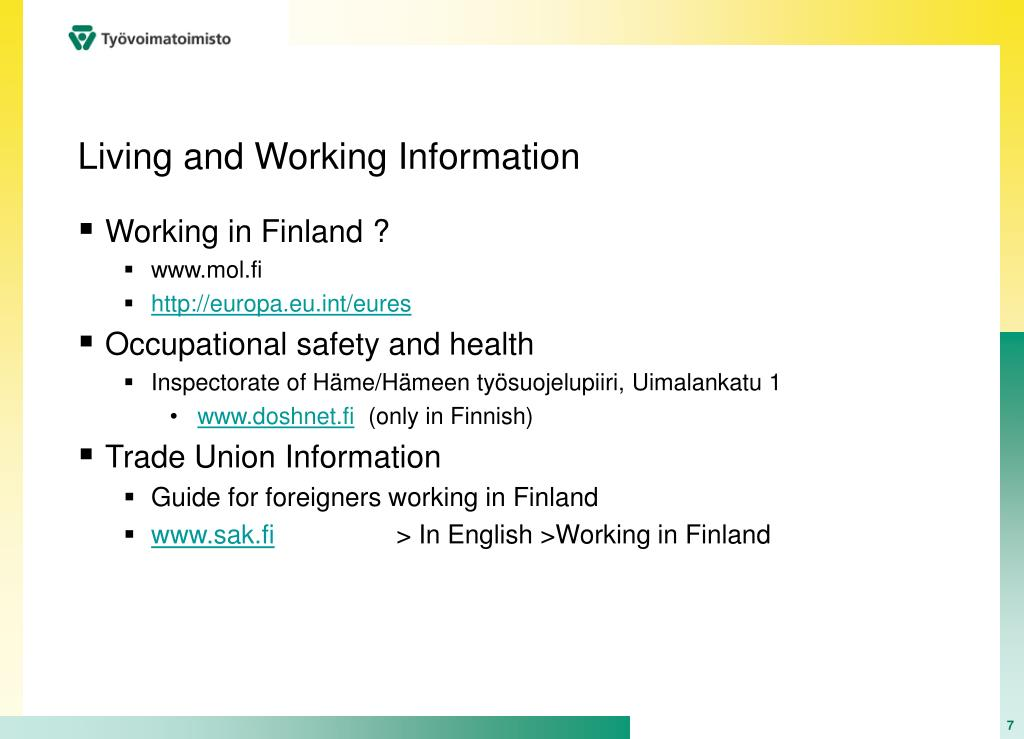 Living and Working Information
