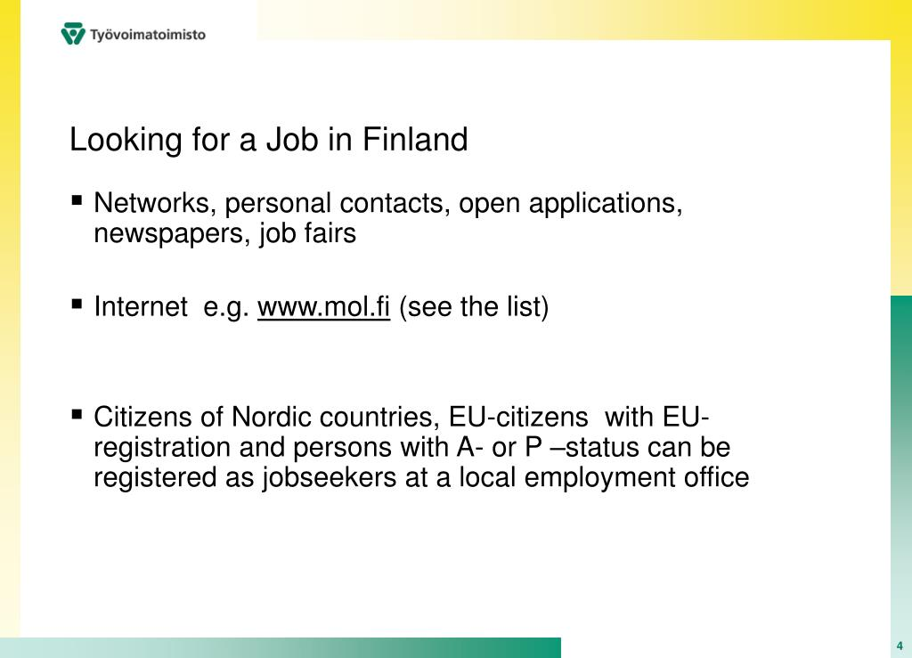 Looking for a Job in Finland
