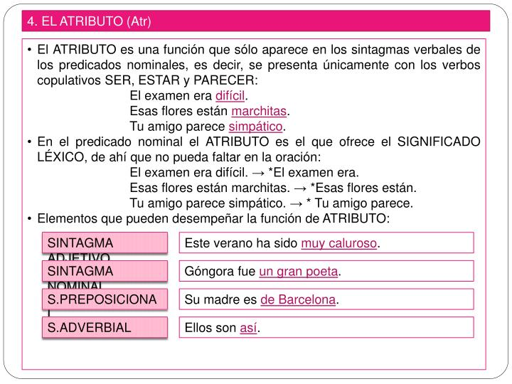 4. EL ATRIBUTO (