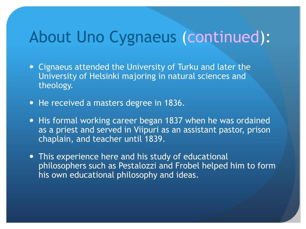 About Uno Cygnaeus