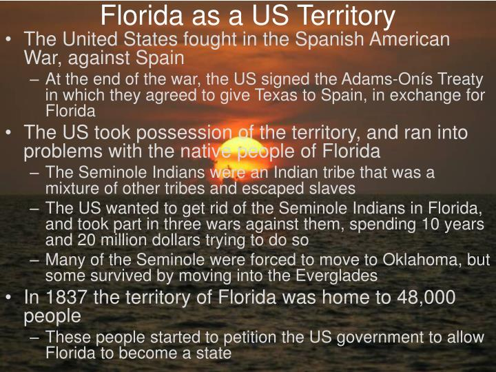 Florida as a US Territory