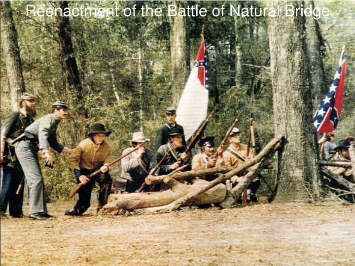 Reenactment of the Battle of Natural Bridge