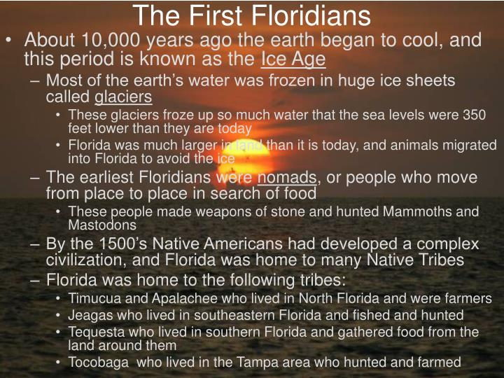 The first floridians