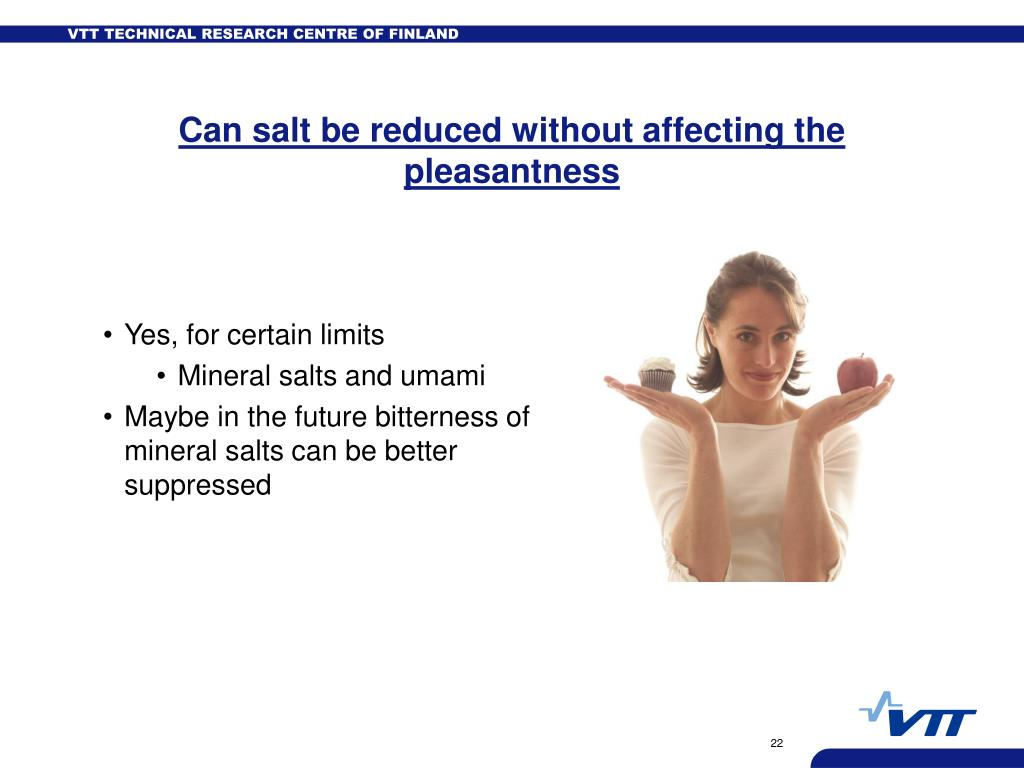 Can salt be reduced without affecting the pleasantness