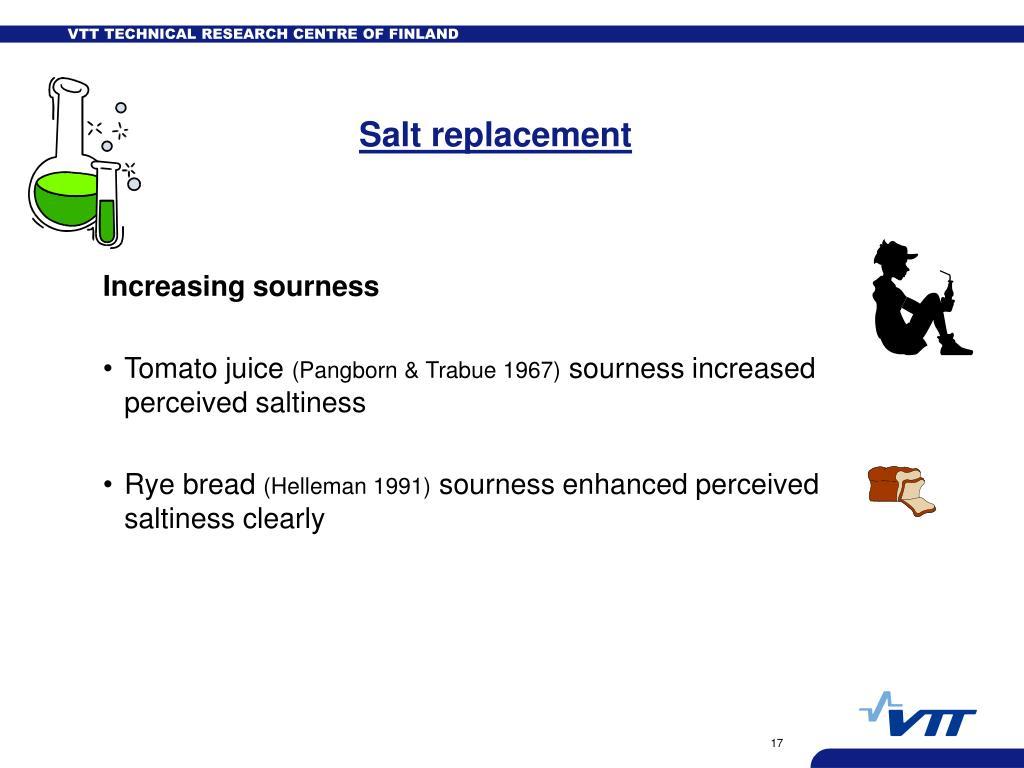 Salt replacement
