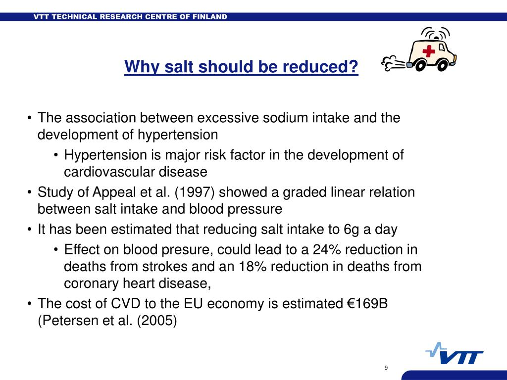 Why salt should be reduced?