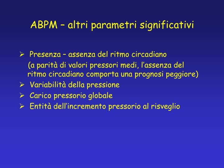 ABPM – altri parametri significativi